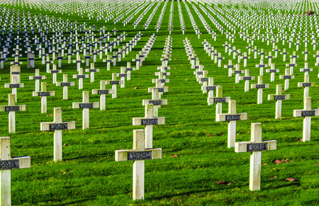 Cemetery world war one in France Vimy La Targette Editorial
