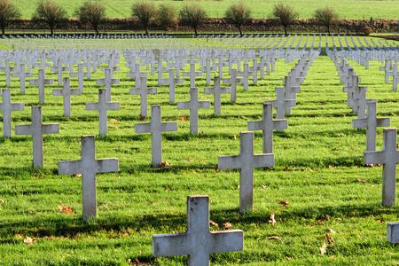 Cemetery world war one in France Vimy La Targette Stok Fotoğraf