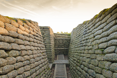 trenches: The trenches on battlefield of Vimy ridge France