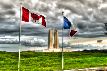 canadian military: The Canadian National Vimy Ridge Memorial in France Stock Photo