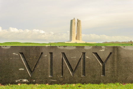 The Canadian National Vimy Ridge Memorial in France 版權商用圖片