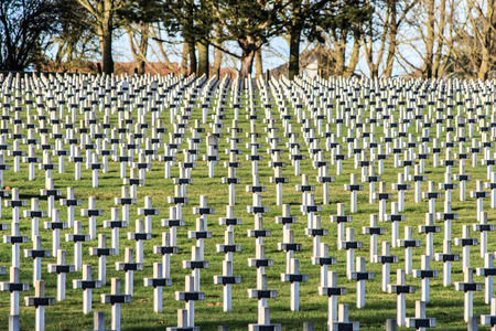 ypres: Cemetery world war one in France Vimy La Targette Stock Photo