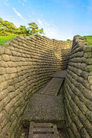 canadian military: The trenches on battlefield of Vimy ridge France