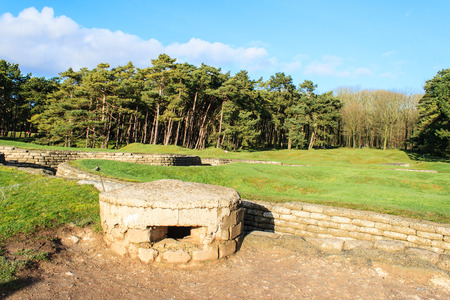 craters: The trenches and craters on battlefield of Vimy ridge
