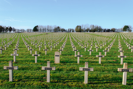 canadian military: Cemetery world war one in France Vimy La Targette Stock Photo