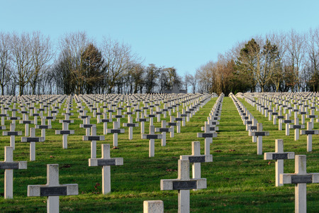 world war 1: cemetery of French soldiers from World War 1 in Targette Stock Photo