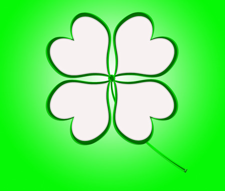four leaf: four leaf clover in green made of hearts