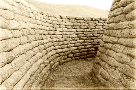 world war one: The trenches on battlefield of Vimy world war one France Stock Photo