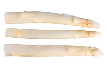 cut out white asparagus on a background photo