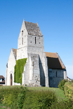 beautiful small church in Normandy France