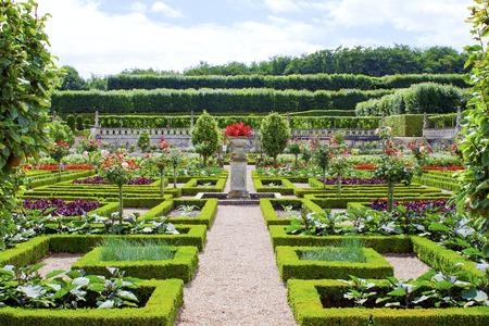 Castle Gardens in the Loire Valley in France