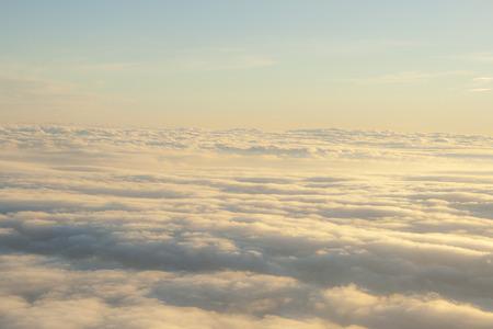 peaceful scene: high above the clouds peaceful scene