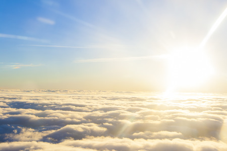 beautiful heaven: high above the sun and clouds