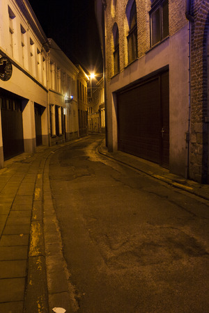 a dark and scary alley in the city