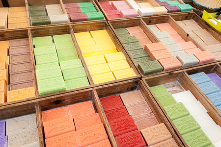 colorful and fragrant herbal soap market