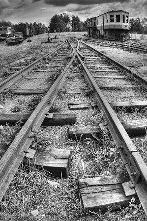 pitting: Rail (HDRi) Stock Photo