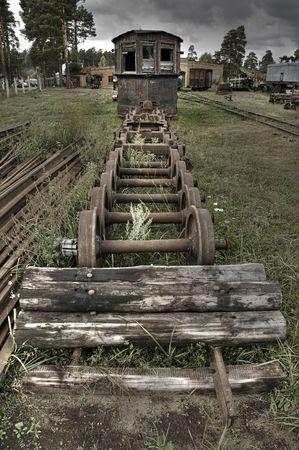 pitting: Dead Machinery (HDRi) Stock Photo
