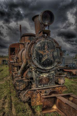 pitting: Rust locomotive (HDRi) Stock Photo