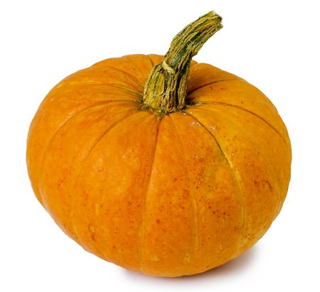 hallows': Pumpkin isolated on white  background