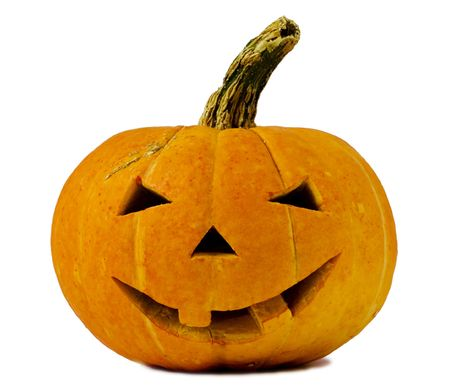 hallows': Halloween pumpkin isolated on white background