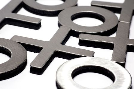 mental object: Tic-Tac-Toe aislados en fondo blanco