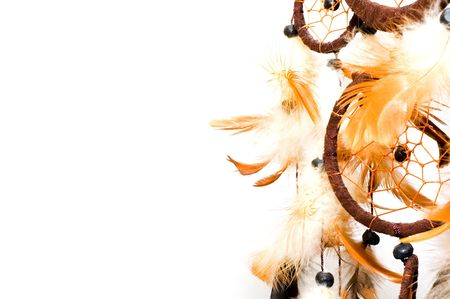 native indian: Dreamcatcher isolated on white background
