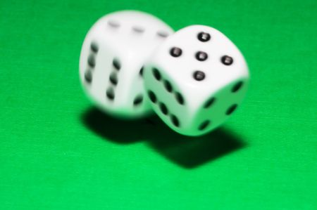 Rolling dice with move effect Stock Photo - 649858
