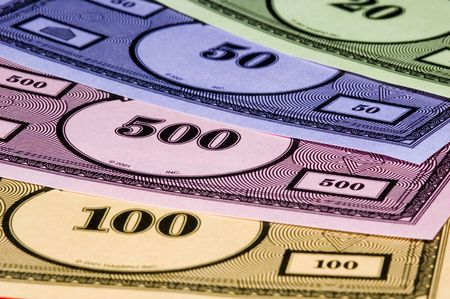 loot: Fake monopoly money texture Stock Photo