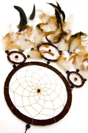 Dreamcatcher isolated on white background photo