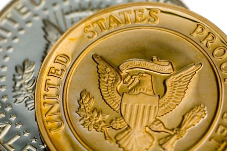 uncirculated: Perfect uncirculated american currency close-up