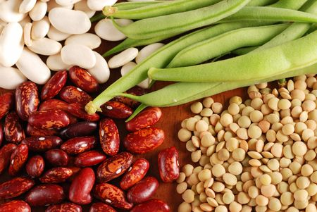 Various types of beans background Stock Photo - 1281872