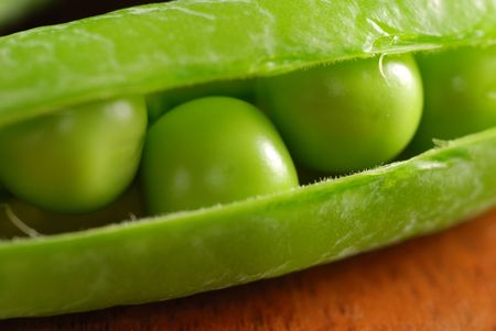 Close-up of ripe beans in its pod Stock Photo - 1281874