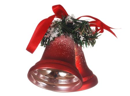 Christmas bells isolated on white Stock Photo - 1832924