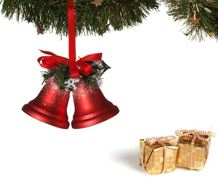 Christmas decoration isolated on white (Collage)