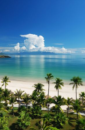 Beach Scene, Tropics, Pacific ocean photo