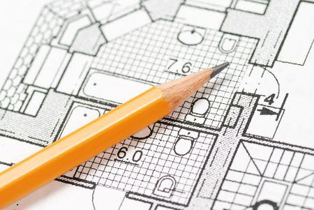 planos arquitecto: Modelos excesivos del plan de la casa del l�piz
