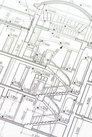 House plan blueprints close up Stock Photo - 2607607