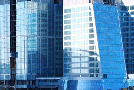 erect: Modern office building close up