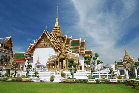 Thailand, Bangkok. Temple against sky. Stock Photo