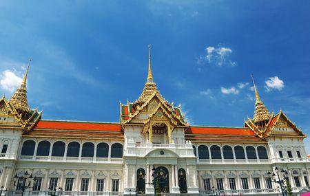 bangkok temple: Thailand, Bangkok. Temple against sky. Stock Photo