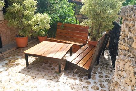 patio deck: Patio coperta in hotel di lusso Archivio Fotografico