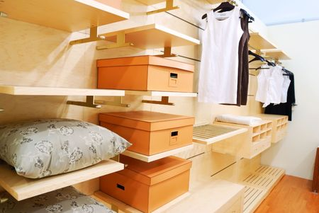 Closet wardrobe private room interior Stock Photo - 4636525