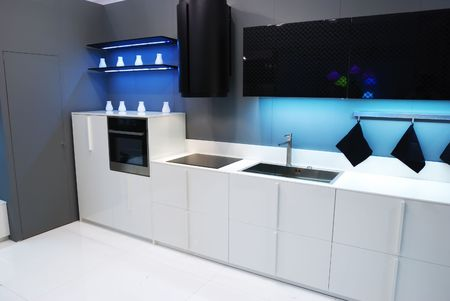 Modern new kitchen luxury interior Stock Photo - 4728974