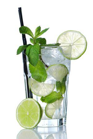 mojito: Mojito cocktail isolated on white