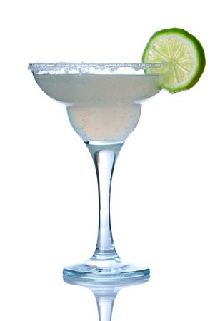 Margarita or Daiquiri cocktail isolated on white photo