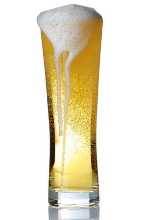Beer glass isolated on white Stock Photo - 4922258