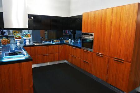Modern new kitchen luxury interior Stock Photo - 5096868