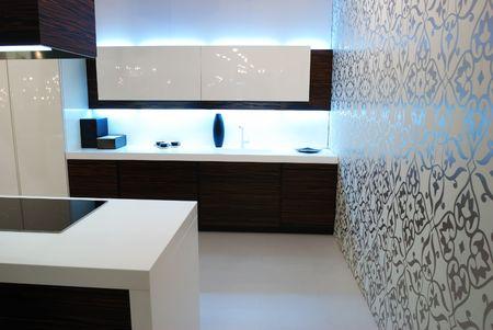 Modern new kitchen luxury interior Stock Photo - 5096867
