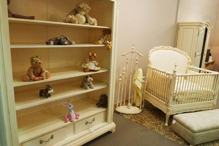 Old fashioned nursery interior baby room Stock Photo - 5096870