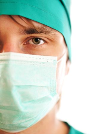 Doctor's face in mask close-up Stock Photo - 5330440